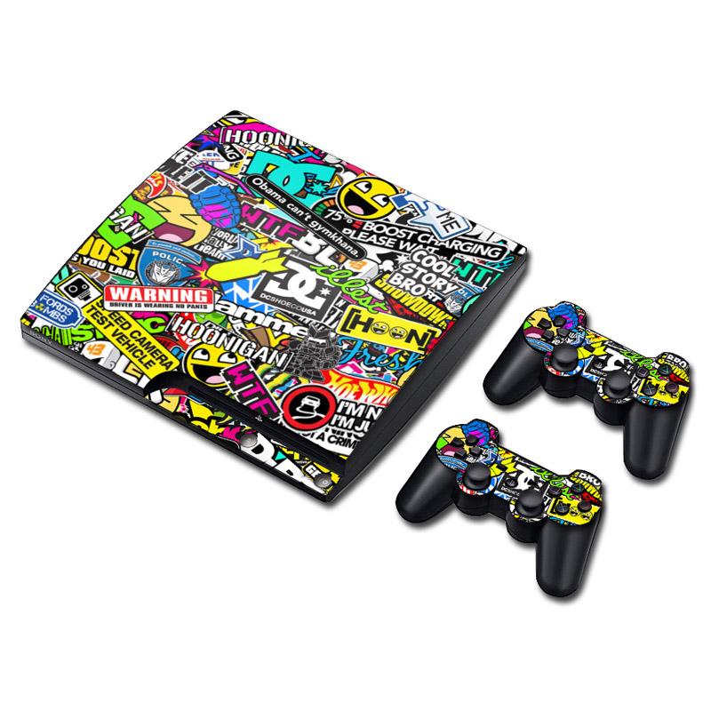 PS3 slim, sticker, décoration, unique, geek