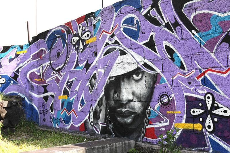Mur, fresque, afrique, comores, moroni