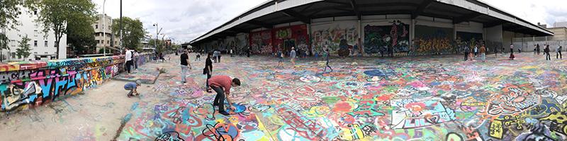 vue panoramique, aerosol, paris, graff, street art, tag