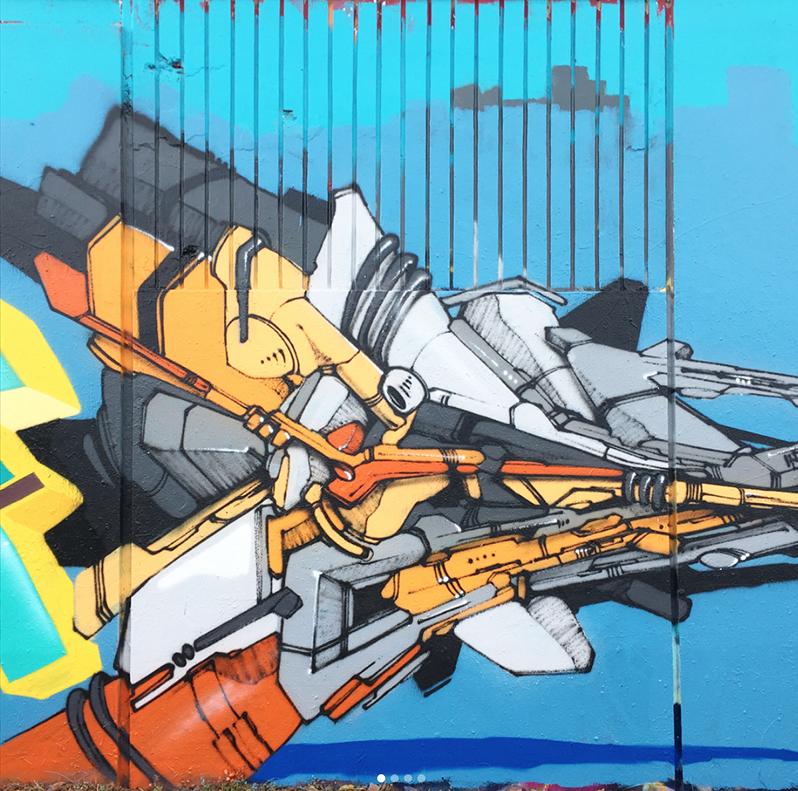 bas, fresque, murale, production