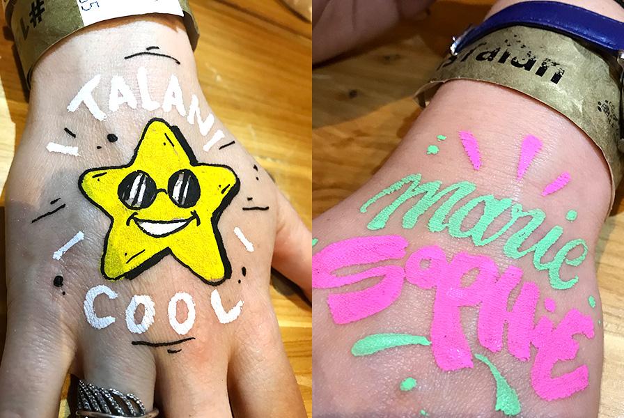 Tan, cool, Marie, Sophie, tattoo, tatouages, éphémères