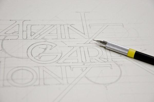 sketch, dessin, handlettering, art, avant garamont