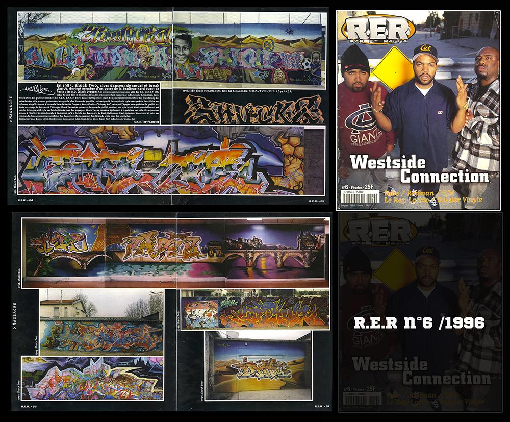 Graffiti, Arabe, Shuck2, RER, 1996