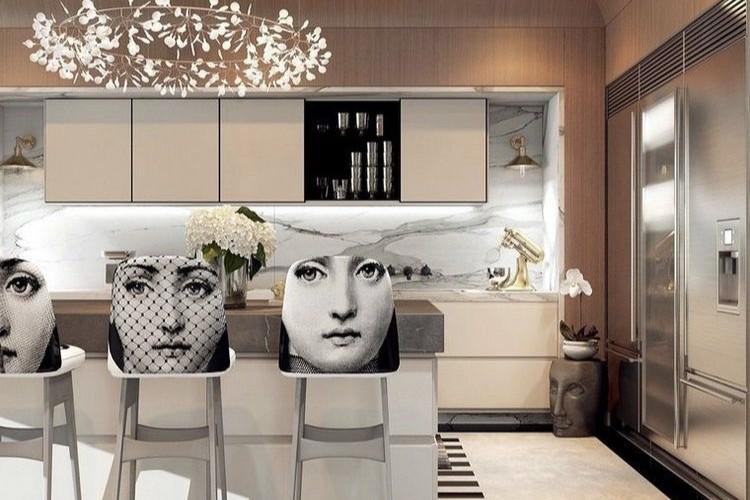 Cuisine, décoration, déco, art déco, style, mouvance, artistique, géométrie, moderne intérieur, art, graphisme, graphiti, street art