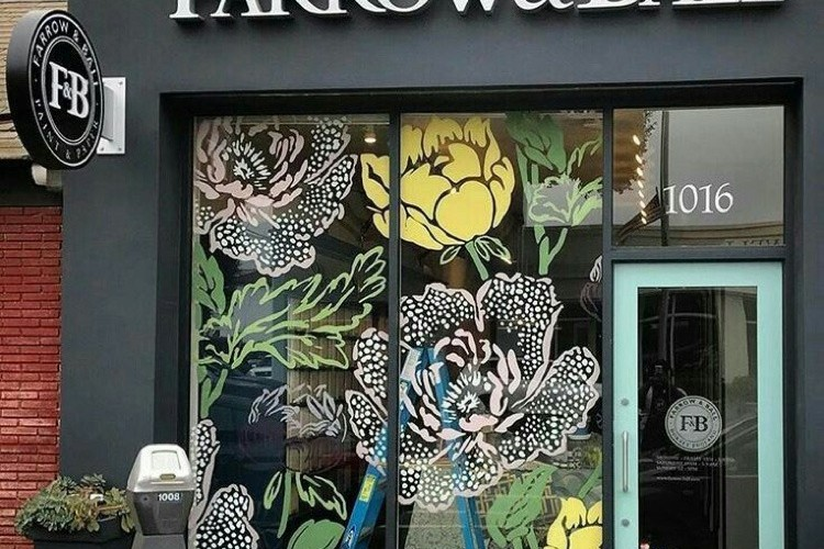 illustration, vitrine, Farrow&Ball, décoration, magasin, boutique