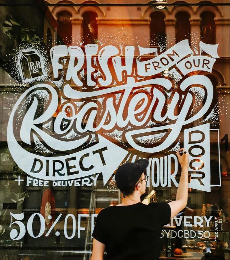 Typographe, calligraphe, restaurant, décoration, art, street , paris