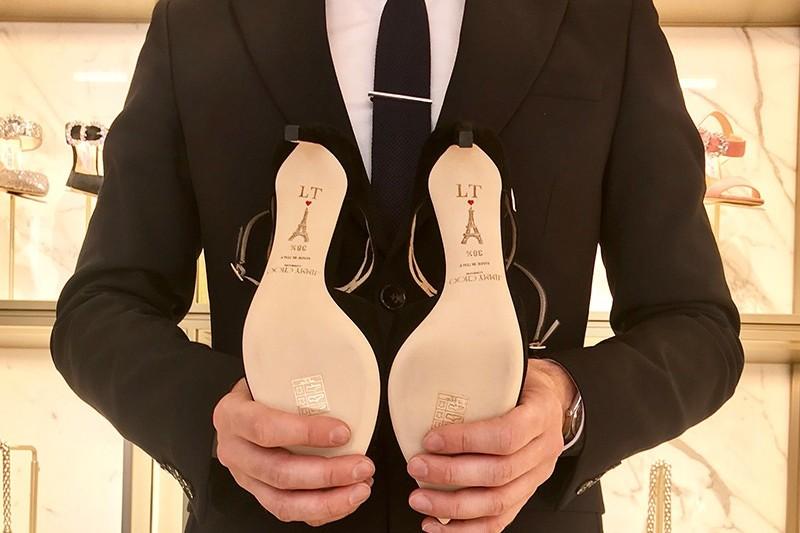 personnalisation, chaussures, Jimmy Choo, custom, Paris, art