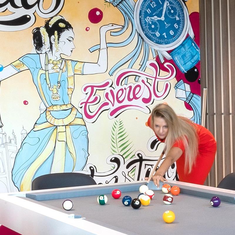 Décoration, intérieure, murale, graffiti, graffeur, Paris, art, Open space, Dubai
