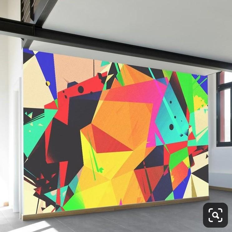 déco, décoration, street artiste, graffeur, Paris, abstrait, forme, arc en ciel