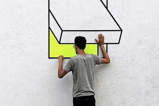 Illusion optique, art, artiste Exposition Aakash Nihalani, paris