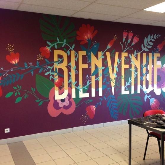 Graffiti, mur, bienvenue, art, artistes, street, taggueur, paris, avenue clichy, porte saint cloud