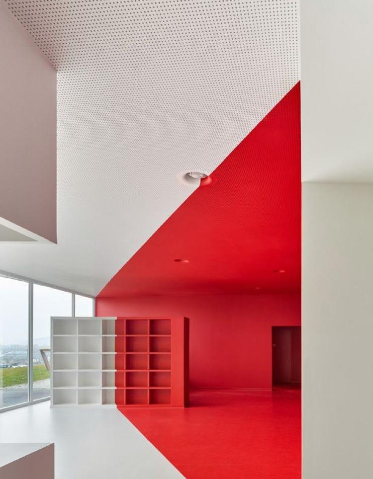 décoration, concept, rouge, minimalisme, épuré, aérien, paris, street artistes