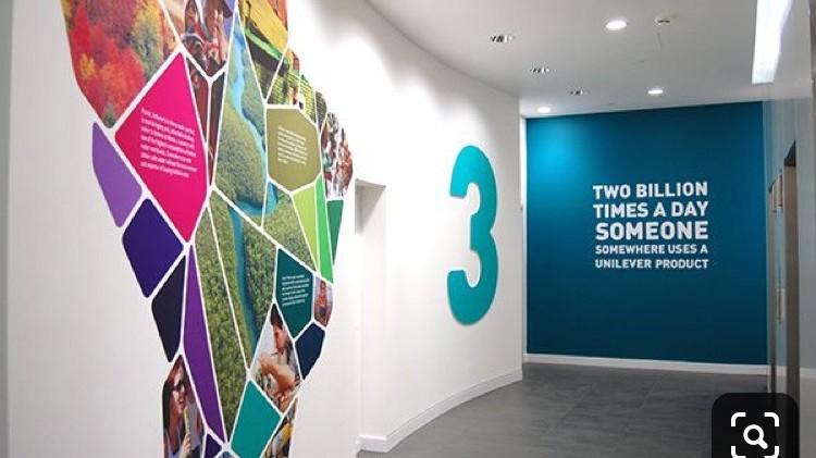 décoration, signalétique, bureau, Unilever, corporate, charte, groupe, Paris