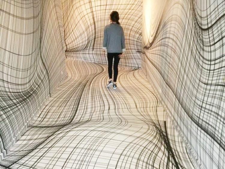 déco, décoration , couloir, hypnotique, lignes,