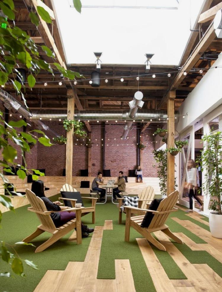 nature, open space, coworking, travail, bureau partagé