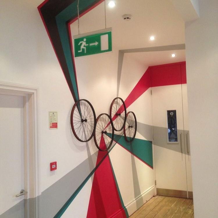 roues, vélo, décoration, bicyclette, art, décoratif, Paris