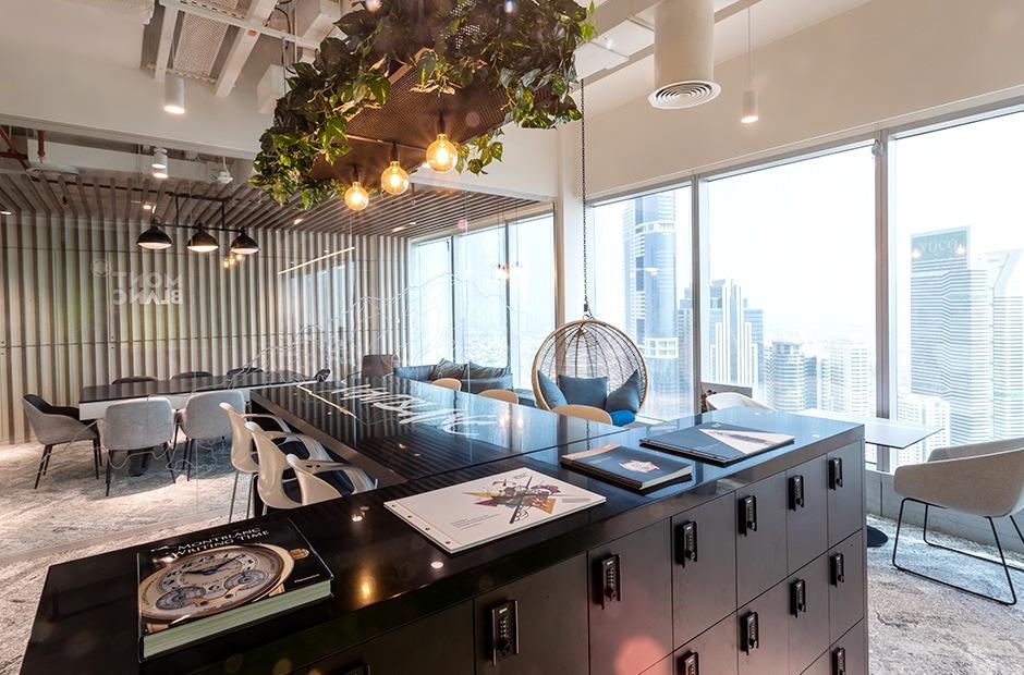 Vue, View, skyline, Dubai, bureaux, aménagement, office, open space, coworking