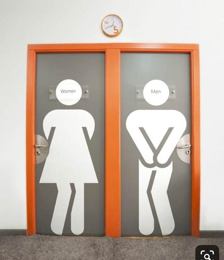 signalétique, toilettes, WC, sanitaire, décalé, rigolo, drôle