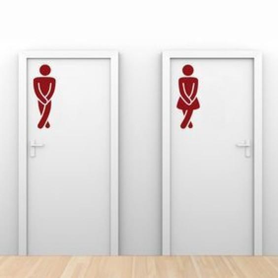 WC, toilettes, signalétique, images, hommes, femmes