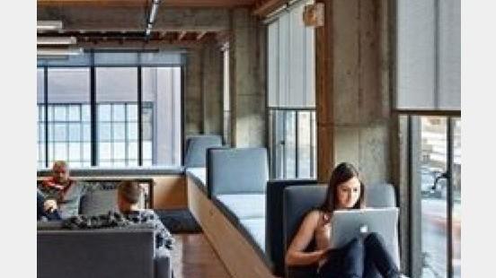 open space, banquette, bureaux, coworking, confort