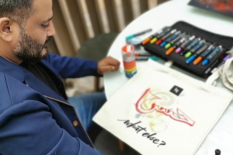 totes bags, Nespresso, Dubai, Personnalisation, live