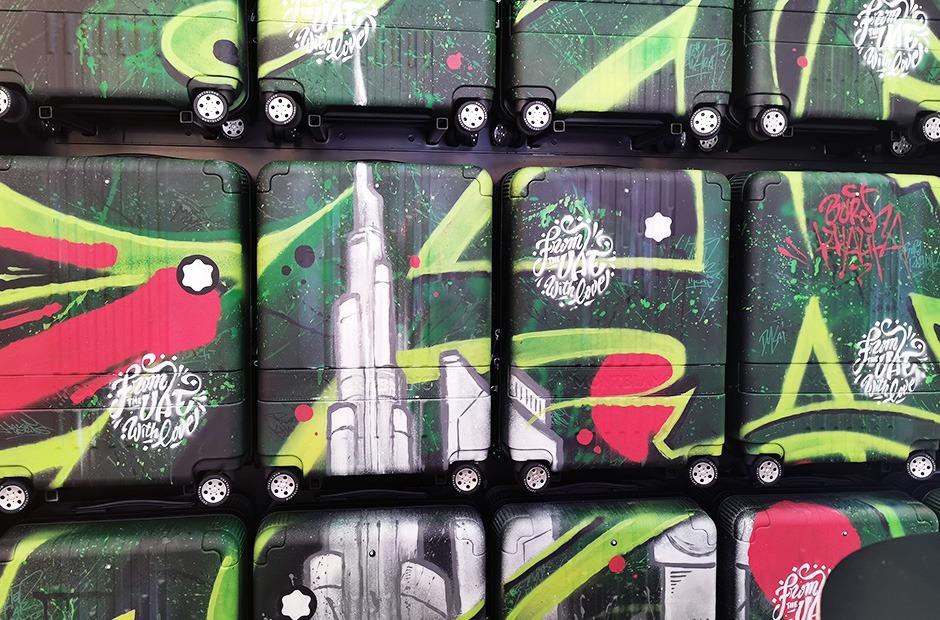 personnalisation, valises, montblanc, graffiti, street art, opération, série limitée, fait main, handmade, paris