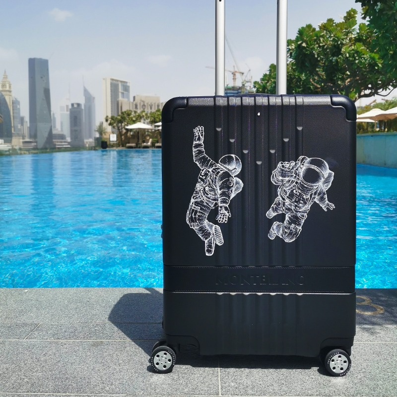 Valise, Montblanc, personnalisée, personnalisation, custom, Dubai , Paris