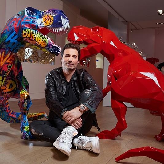 Portrait, Richard, Orlinski, artiste, français, contemporain, wild