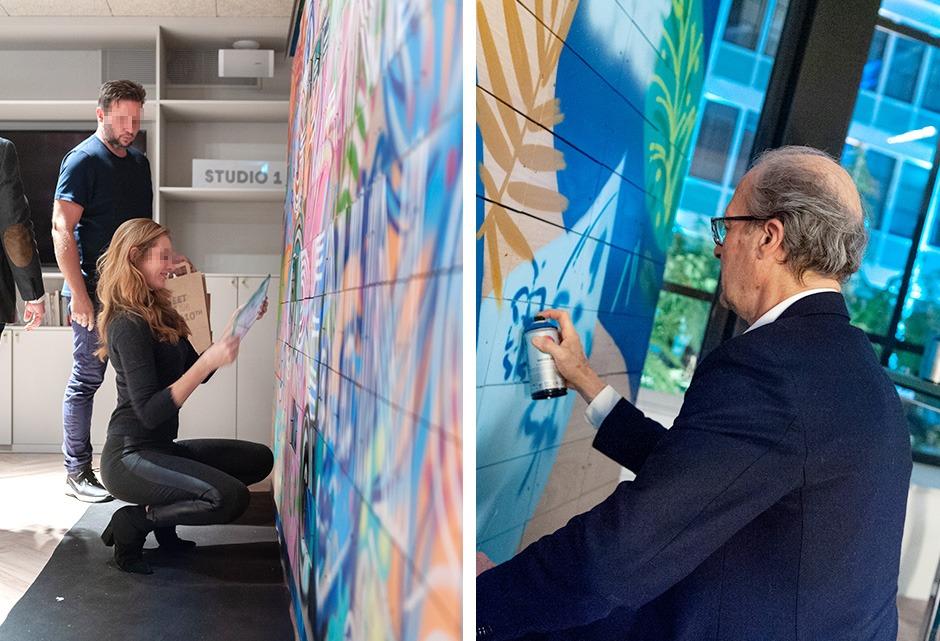 Team building, graffiti, Street Art, atelier, créatif, art, société, entreprise, corporate