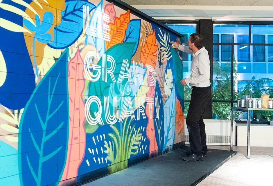 tagg, graffiti, salarié, bureau, atelier, team building