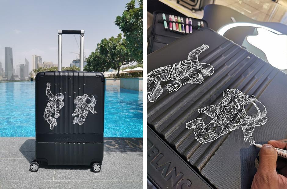 custom, personnalisation, valises, main, Dubai, Paris, Graffeur, Street Art