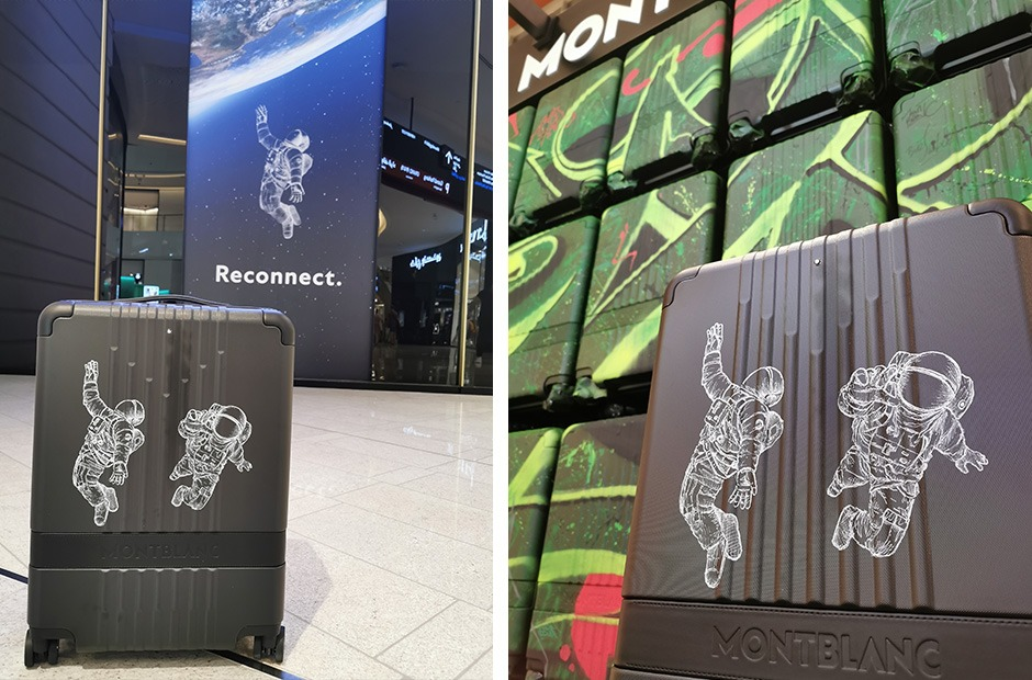 Valise, Montblanc, Trolley, reconnect, to the world, campaign