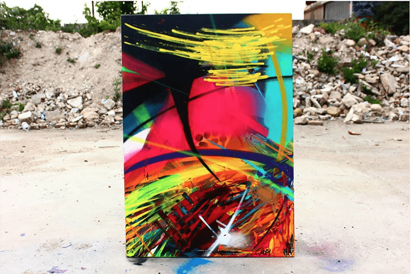 Toile, canvas, art, contemporain, urbain, Sur, 128