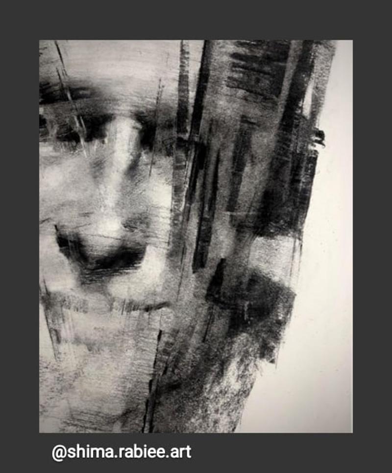 portrait, Shima, Rabies, canvas, toile, figuratif