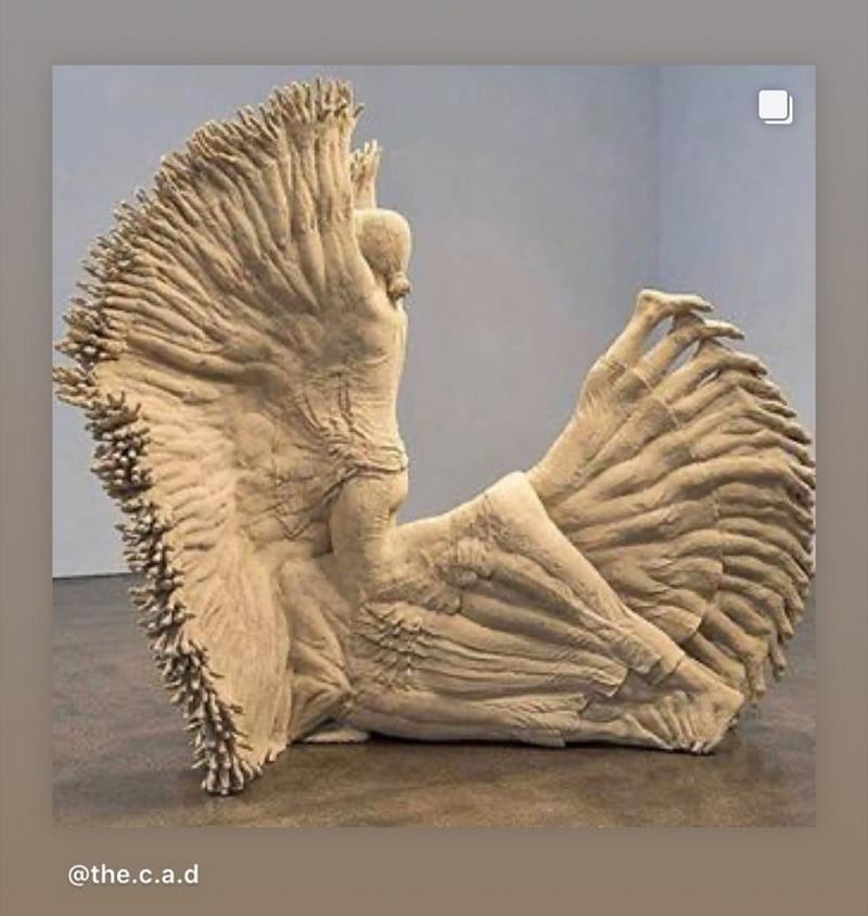 sculpture, personnage, mouvement, concept, art contemporaine