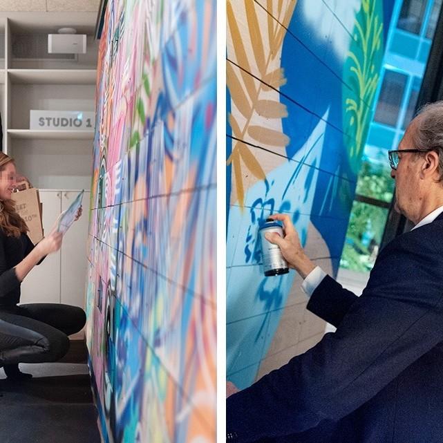 team building, Street Art, Graffiti, paris, bureau, société