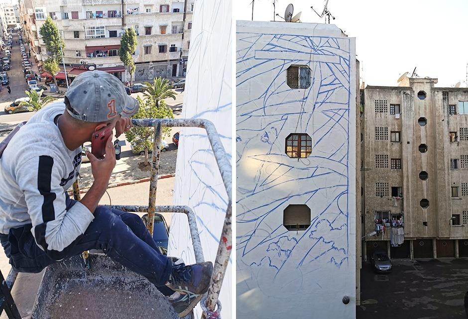 Maroc, Casablanca, fresque, monumentale, muraliste, Maroc