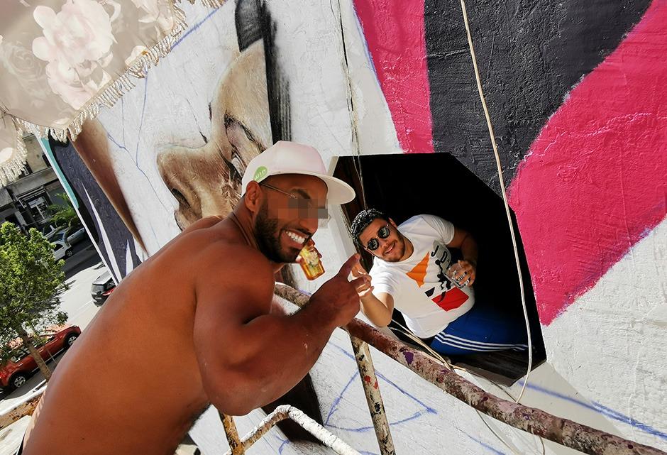 Fresque, graffiti, Street Art, Maroc, Casablanca
