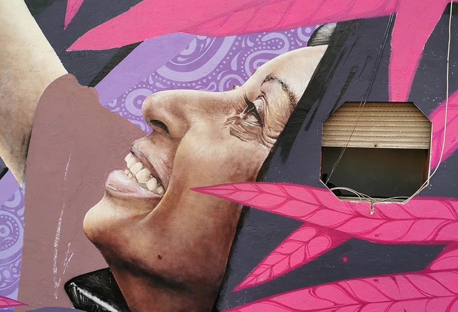 Détail, fresque, street Art, Casablanca, Maroc, Festival