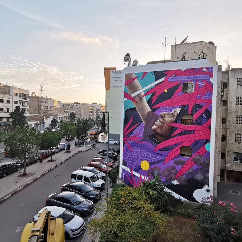 Fresque, murale, casablanca, casamouja, festival, street art