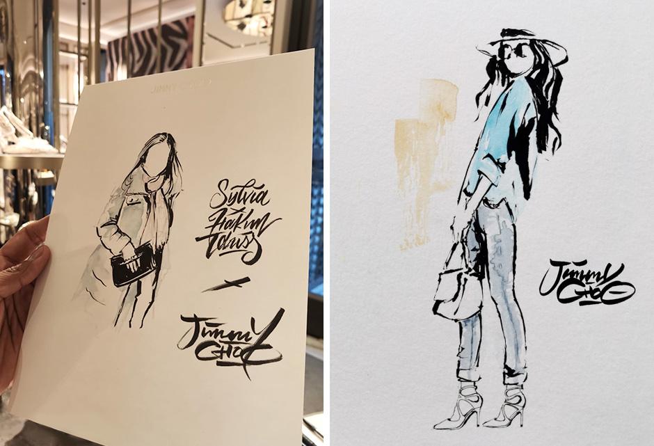 croquis, pinceaux, aquarelles, mode, fashion, week, paris, animation