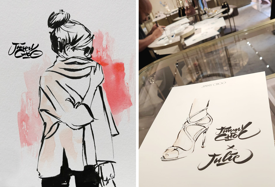 Croquis au pinceau, mode, luxe, glamour, fashion week, Animation
