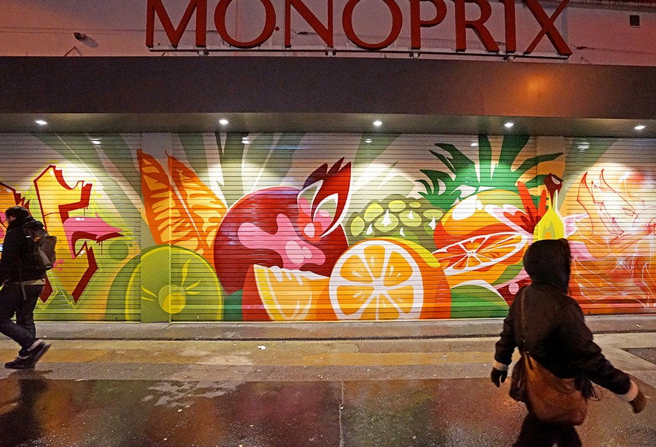 Graffiti, Street Art, Fruits et Légumes, couleurs, habillage, décoration