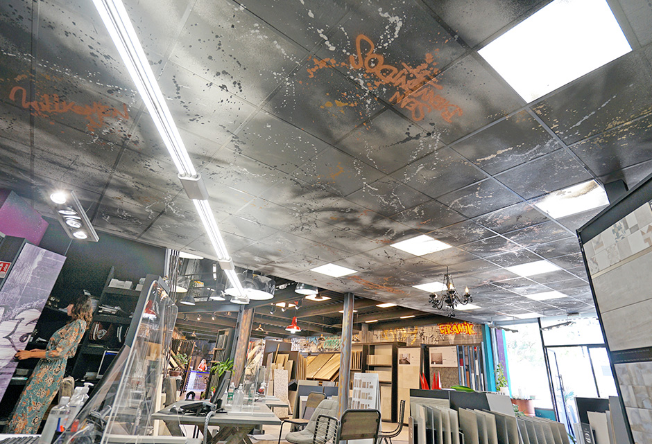 Plafond, déco, décoration, art, street, urbain